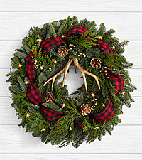 22' Holiday Glam Wreath with Lights
