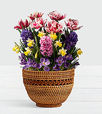 Spring Garden Party in Woven Lace Basket