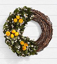 18 in. Eucalyptus & Lemon Wreath