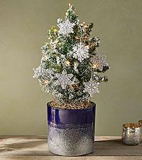 Winter White & Gold Tiny Tree