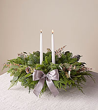 Eucalyptus & Pine Centerpiece with Candles