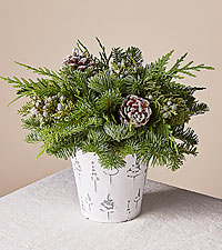 Frosted Winter Centerpiece