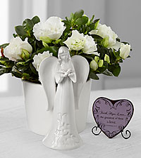 Light the Way Azalea Angel Planter with Faith, Hope, Love Heart
