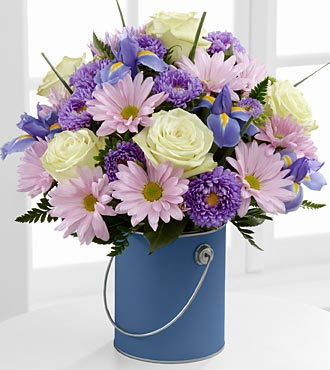 Le bouquet Color Your Day Tranquility™ par FTD® - VASE INCLUS