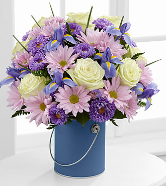 The Color Your Day Tranquility™ Bouquet by FTD® - VASE INCLUDED