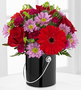 The FTD® Color Your Day with Intrigue™ Bouquet