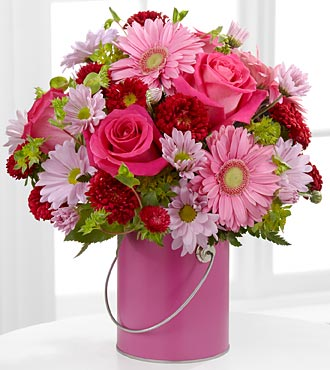 The Color Your Day With Happiness™ Bouquet by FTD® - VASE INCLUDED