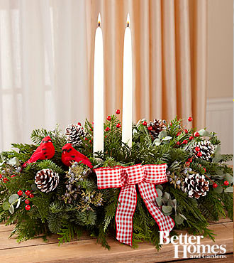 The FTD® Comfort & Joy Holiday Centerpiece by Better Homes and Gardens®