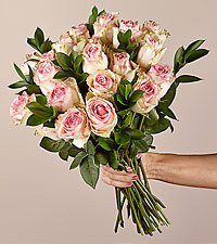 Pink Champagne Rose Bouquet 24 Stem No Vase