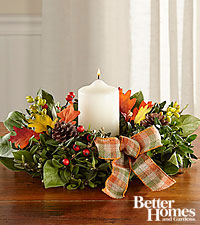 The FTD® Gratitude's Gathering Autumn Centerpiece by Better Homes and Gardens®