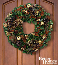 The FTD® Woodland Beauty Holiday Wreath by Better Homes and Gardens®-24 inches in diameter