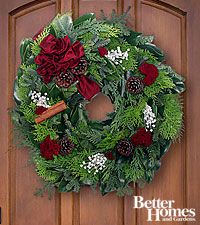 Yuletide Greetings Holiday Wreath- 20 inches in diameter