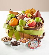Hello Spring Organic Fruit & Snack Basket