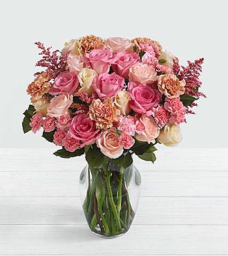 Deluxe Rosy Glow Bouquet