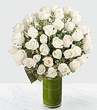 Le bouquet de roses Clarity Luxury - roses de première qualité à tiges de 24 pouces - VASE INCLUS