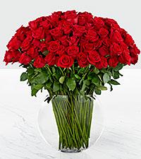 Bouquet de roses Breathless Luxury - roses de première qualité à tiges de 24 pouces - VASE INCLUS