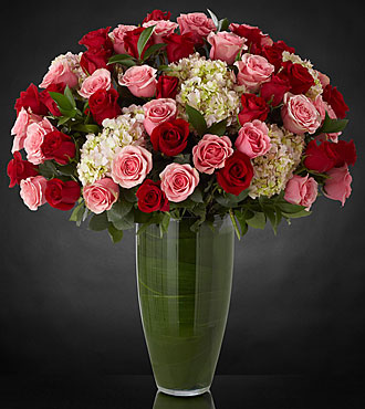 Indulgent Luxury Rose Bouquet - 48 Stems of 24-inch Premium Long-Stemmed Roses - VASE INCLUDED