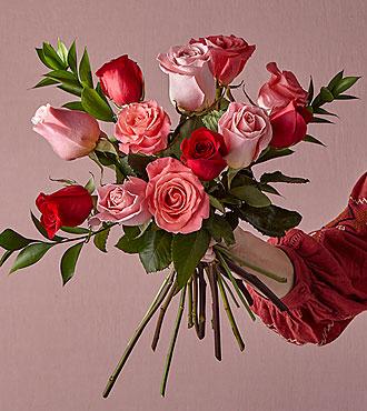 Sweetheart Mixed Rose Bouquet  Original No Vase