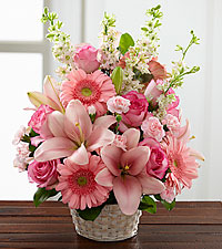 The FTD® Whispering Love™ Arrangement - BASKET INCLUDED