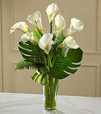 The FTD® Always Adored™ Calla Lily Bouquet - VASE INCLUDED
