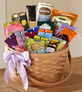 The FTD® Quiet Tribute Gourmet Basket