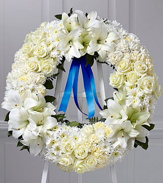Wreath of Remembrance™-Blue Ribbon