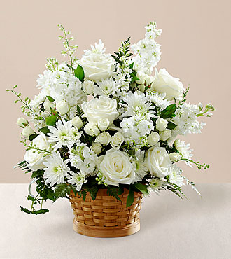 The FTD® Heartfelt Condolences™ Arrangement- BASKET INCLUDED