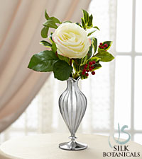 Jane Seymour Silk Botanicals Christmas Rose in White