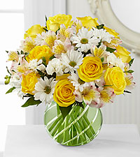 The FTD® Sunlit Blooms™ Bouquet - VASE INCLUDED