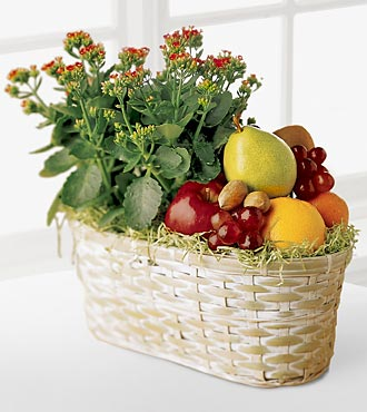 The FTD® Fruits & Flowers Basket