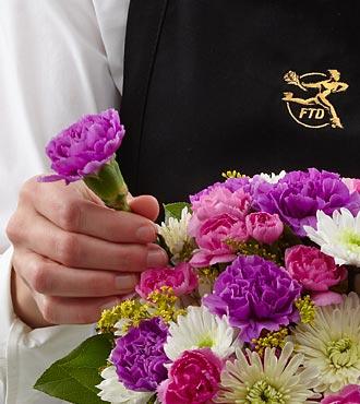 Le bouquet en vase créé par un fleuriste de FTD®
