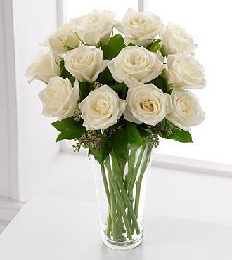 Le bouquet de roses blanches de FTD®
