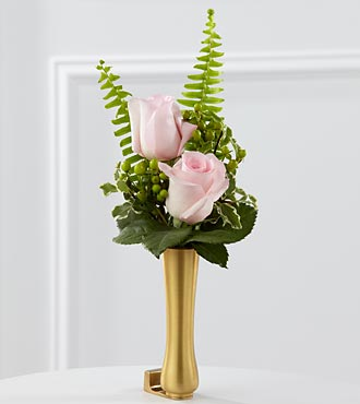 Le vase de boutons de fleurs roses pour mausolée de FTD®