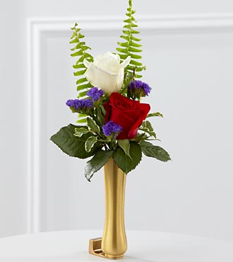 The FTD® Red, White & Blue Mausoleum Bud Vase