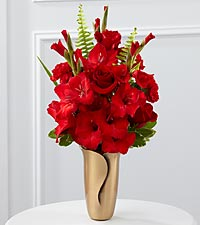Le bouquet de fleurs rouges pour mausolée de FTD®
