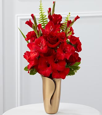 The FTD® Red Mausoleum Bouquet