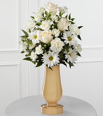 The FTD® White Cemetery Monument Bouquet