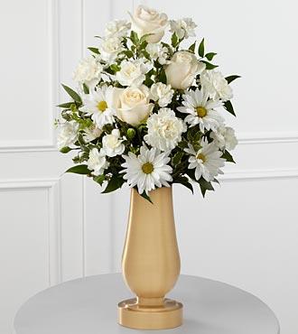 Le bouquet de fleurs blanches pour monument funéraire de FTD®