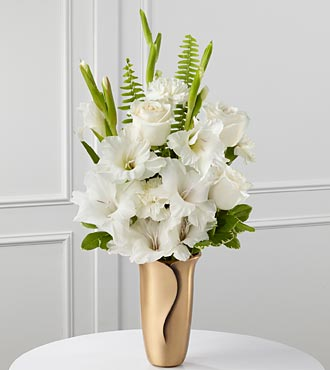 The FTD® White Mausoleum Bouquet