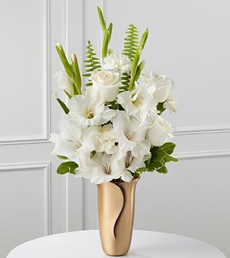 Le bouquet de fleurs blanches pour mausolée de FTD®