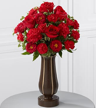 The FTD® Red Cemetery Monument Bouquet