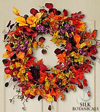 Jane Seymour Silk Botanicals Harvest Glory Wreath