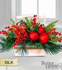 The FTD® Spirit of Christmas Silk Holiday Centerpiece by Better Homes and Gardens®