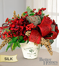 The FTD® Simply Joyful Silk Holiday Arrangement by Better Homes and Gardens®