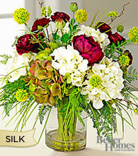 The Better Homes and Gardens® Silk Mixed Garden Bouquet in Clear Glass Vase