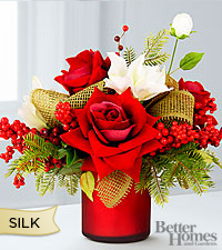 The FTD® Christmas Moments Silk Rose Bouquet by Better Homes and Gardens®