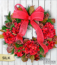 The FTD® Joyful Heart Holiday Silk Wreath by Better Homes and Gardens®