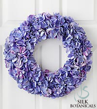 Jane Seymour Silk Botanicals Hydrangea Wreath