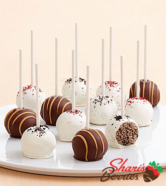 Red Velvet, Cookie, & Peanut Butter Cake Pops - 12 Count