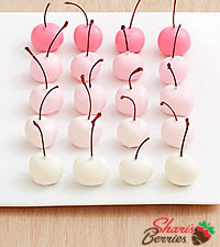 20 Hand-Dipped Ombre Cherries